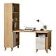 D&T德泰傢俱 JOYE清水模風格2尺書櫃搭配書桌-150x55x150cm product thumbnail 1