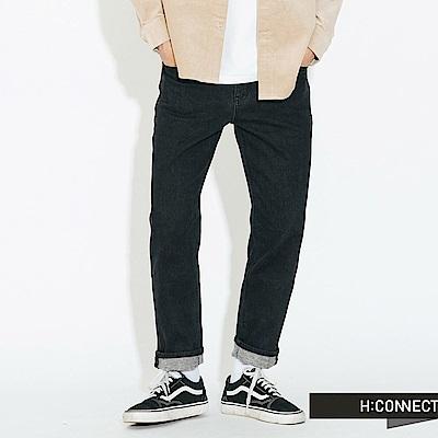 H:CONNECT 韓國品牌 男裝 - 復古刷色合身牛仔褲 - 深藍