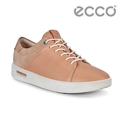 ECCO CORKSPHERE 1 L時尚鏤空拼接設計休閒鞋 女-裸色