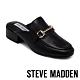 STEVE MADDEN-JALON 潮流金屬馬銜扣真皮粗跟穆勒鞋-黑色 product thumbnail 1