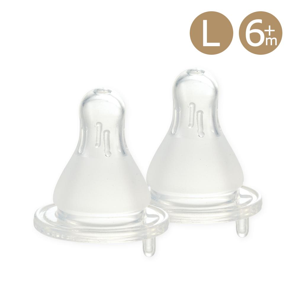 奇哥 親乳實感防脹氣奶嘴2入-標準口徑6m+