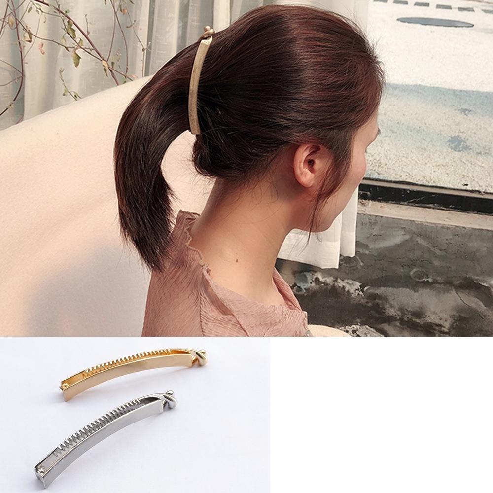 Hera 赫拉 韓版時尚優雅大版金屬香蕉夾-2色