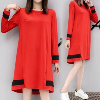 【韓國K.W.】簡約時尚素色顯瘦洋裝