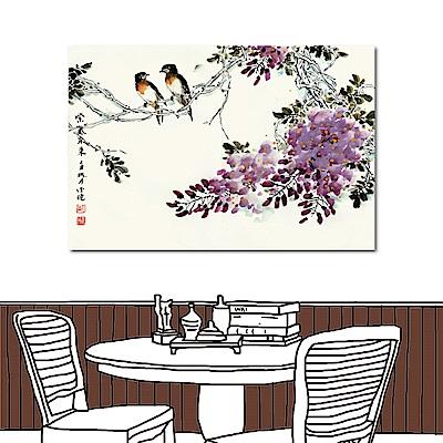 橙品油畫布 單聯式 無框畫水墨中國風-紫色薰香60x40cm