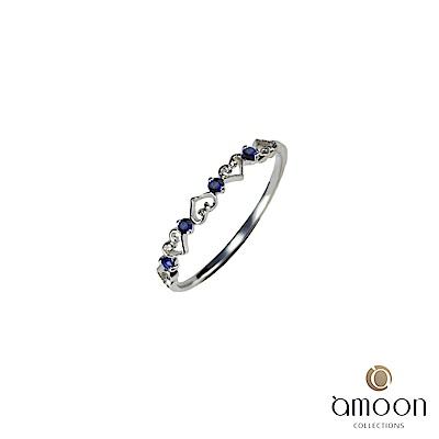 amoon 璀璨星空系列 星語 K金藍寶石戒指