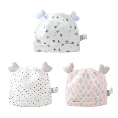 colorland【3入】新生兒雙層帽子 嬰兒胎帽
