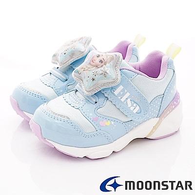 日本Carrot機能童鞋 冰雪聯名電燈鞋款 ON2269藍(中小童段)