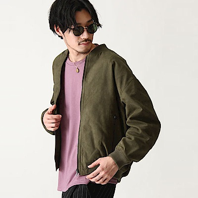 MA-1飛行員夾克寬版落肩仿麂皮(6色) ZIP日本男裝