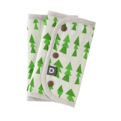 D BY DADWAY_揹帶用口水巾 / 綠色森林