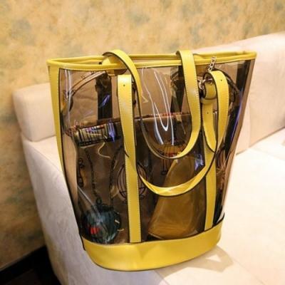 米蘭精品 肩背包果凍防水包-透明簡約時尚風流行女包情人節生日禮物3色68a30
