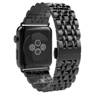 Apple Watch 不鏽鋼七珠蝶扣錶帶-贈拆錶器(38mm)