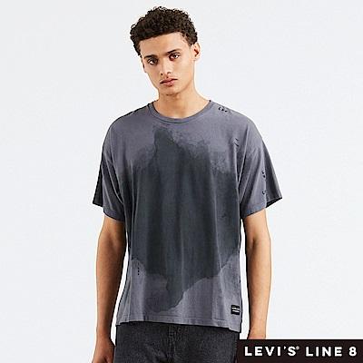 Levis 男女同款 短袖T恤 Line 8系列 寬鬆版型 渲染潑墨