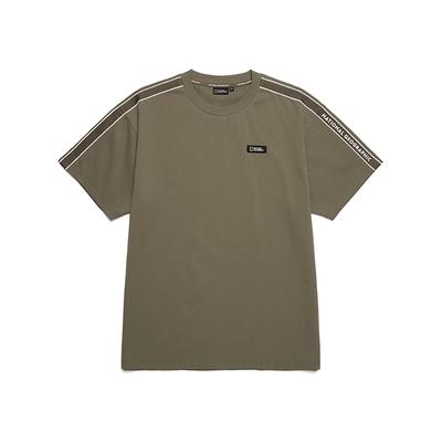 NATIONAL GEOGRAPHIC 男 TAPE CONTRAST SEMI LOOSE H/TEE 短袖T恤 大地綠-N212MTS120058