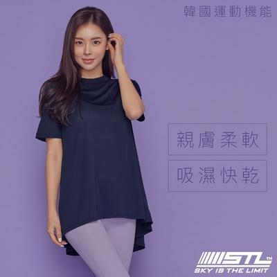 yoga Metro Hip Cover SS 地鐵傘狀蓋臀T 韓國瑜伽 運動機能服長版短袖上衣 ChicNavy月影藍