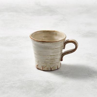 KOYOTOKI日本美濃燒 寬口茶杯 - 摩卡白-250ml