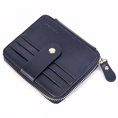 A+ accessories 美式拉鍊多功能卡片收納短夾(3色任選)