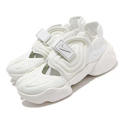 Nike 休閒鞋 Aqua Rift 運動 女鞋 輕便 忍者鞋 舒適 穿搭 簡約 全白 CW7164100
