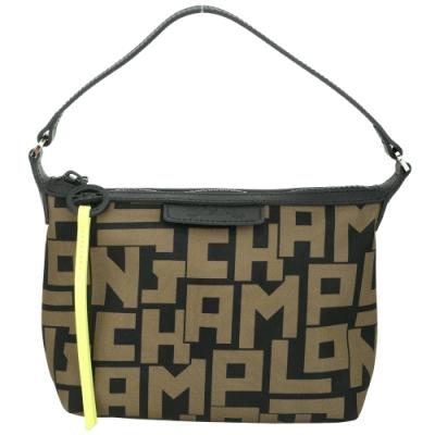 LONGCHAMP Le Pliage  LGP 墨綠色字母印花手提/肩背包