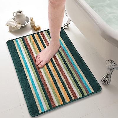 色彩時尚吸水防滑地墊(大)3入-4色可選