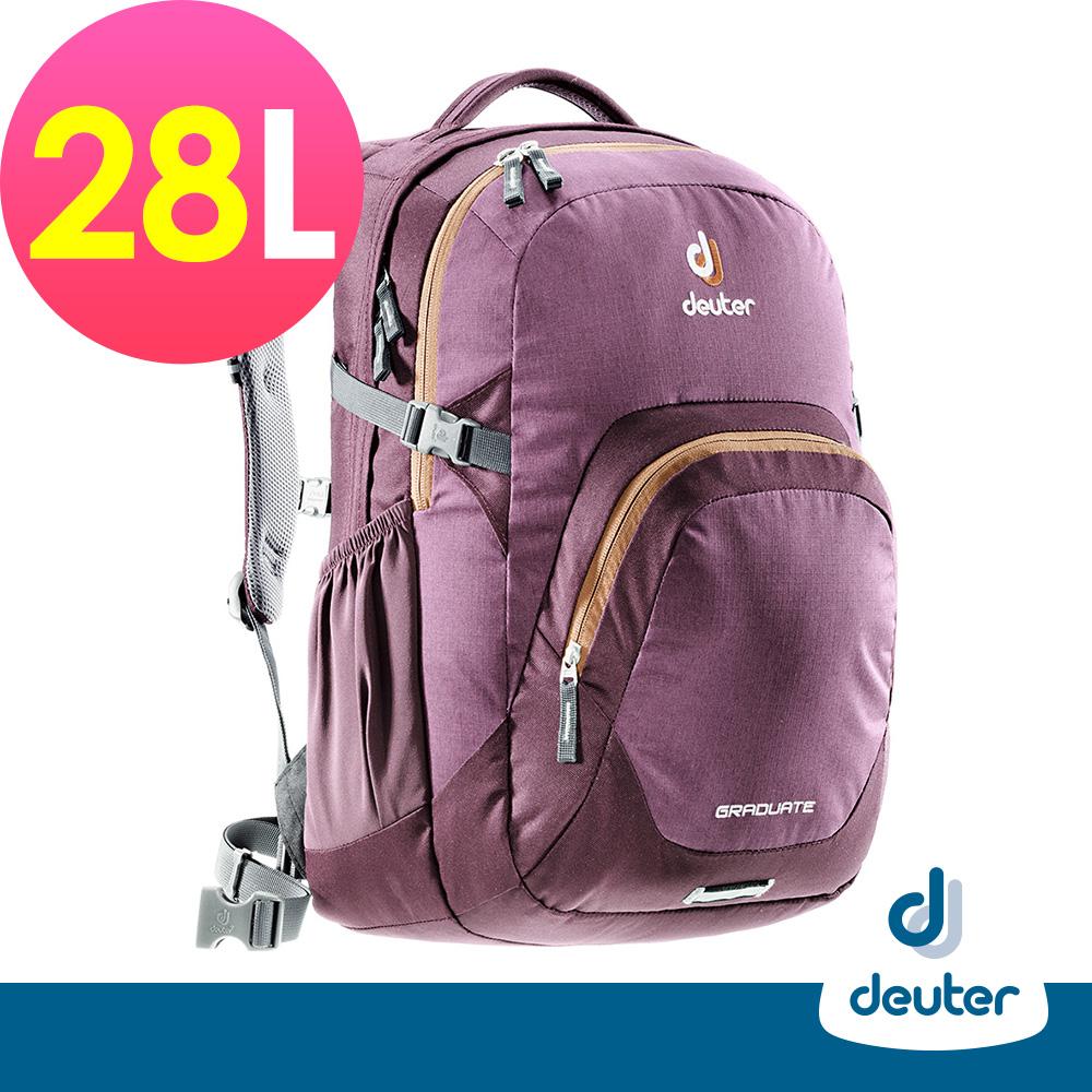 【ATUNAS 歐都納】德國DEUTER 自助旅行休閒後背包28L / 80232 深紫