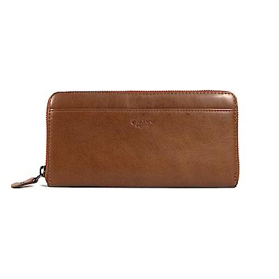 CALTAN-女長夾 拉鍊長夾 輕薄皮夾 信用卡夾 零錢袋 -2009-cd咖