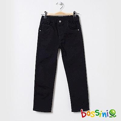bossini男童-厚棉卡其長褲黑