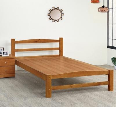 Boden-卡迪5尺雙人簡約實木床架