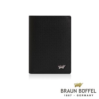 BRAUN BUFFEL -席德系列4卡中翻名片夾 - 雅典黑