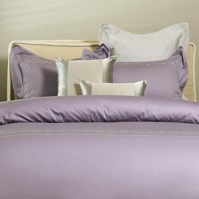 Madame Duree│Louvre羅浮印象 (薰紫) 進口精梳棉 刺繡寢飾 │雙人