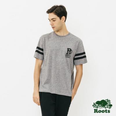 ROOTS 男裝- 卡通冰上曲棍球短袖T恤-灰