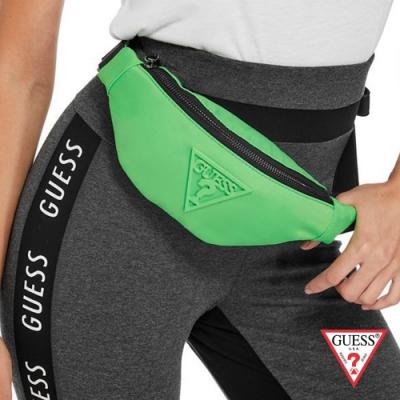 GUESS-女包-時尚休閒腰包-螢光綠
