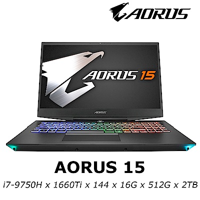 AORUS 15 電競筆電 i7-9750H/GTX1660Ti 6G