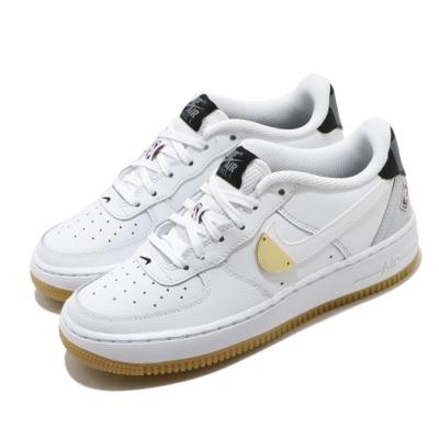 Nike 休閒鞋 Air Force 1 LV8 運動 女鞋 經典AF1 皮革 簡約 穿搭 大童 NBA 白金 CT3842100