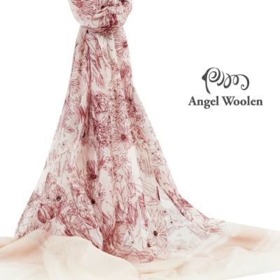 【ANGEL WOOLEN】花語印度胎羊毛手工披肩(共兩色)