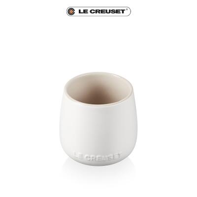 [結帳7折] LE CREUSET瓷器花蕾系列馬克杯250ml-棉花白/肉豆蔻