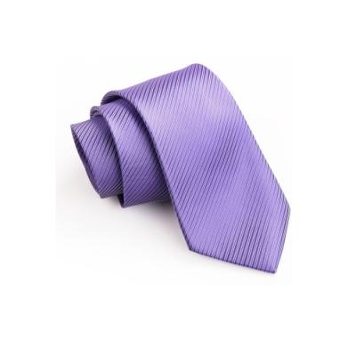 【拉福】斜紋6cm中窄版領帶防水拉鍊領帶-兒童(淡紫)