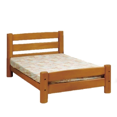 MUNA 柚木色圓柱3.5尺單人床架 111X209X88cm