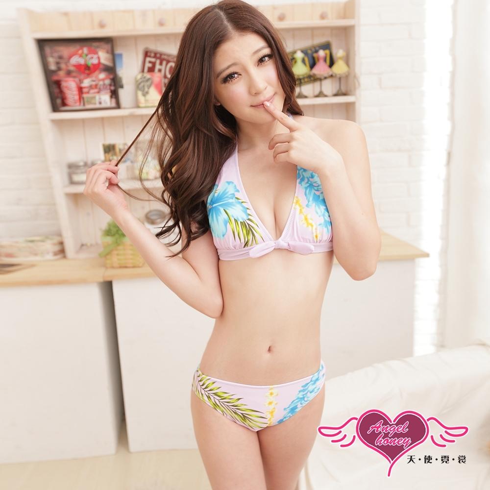 泳衣 甜心專屬 二件式比基尼泳裝(紫M.L) AngelHoney天使霓裳