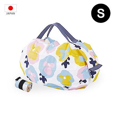 【日本Marna】Shupatto 秒收摺疊環保袋 (S) | 三色堇