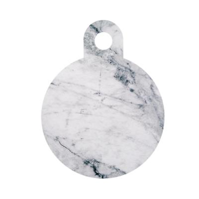Muurla 木質圓形砧板/盛菜盤 大理石紋 25cm