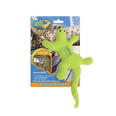 100%天然可填充貓草玩具 - 壁虎