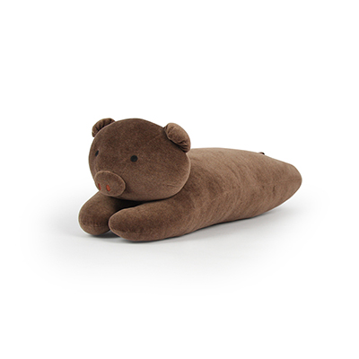 Yvonne Collection 趴趴豬造型抱枕-深咖啡