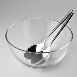 WMF 玻璃沙拉碗匙組 25cm