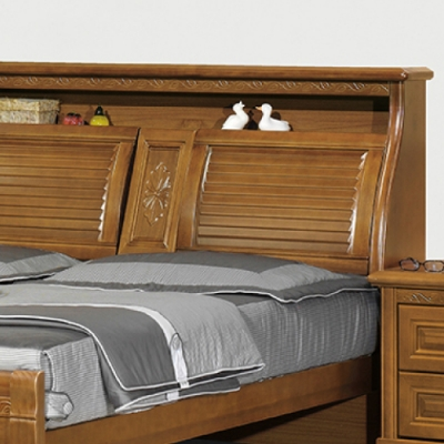 AS 艾布特雕花樟木雙人5尺床頭箱-158x31x111cm