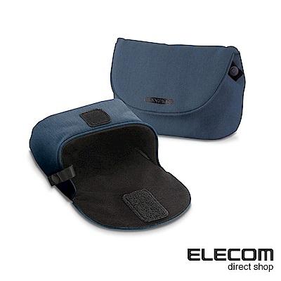ELECOM normas絨布內裡相機收納包-藍