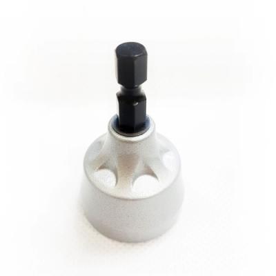 SA004 2入 六角套筒頭/氣動套筒/起子頭套筒 8mm*65L 6.35mm 附磁