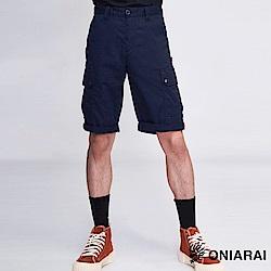 鬼洗 BLUE WAY 潮流鬼洗-菱形繡標工作短褲
