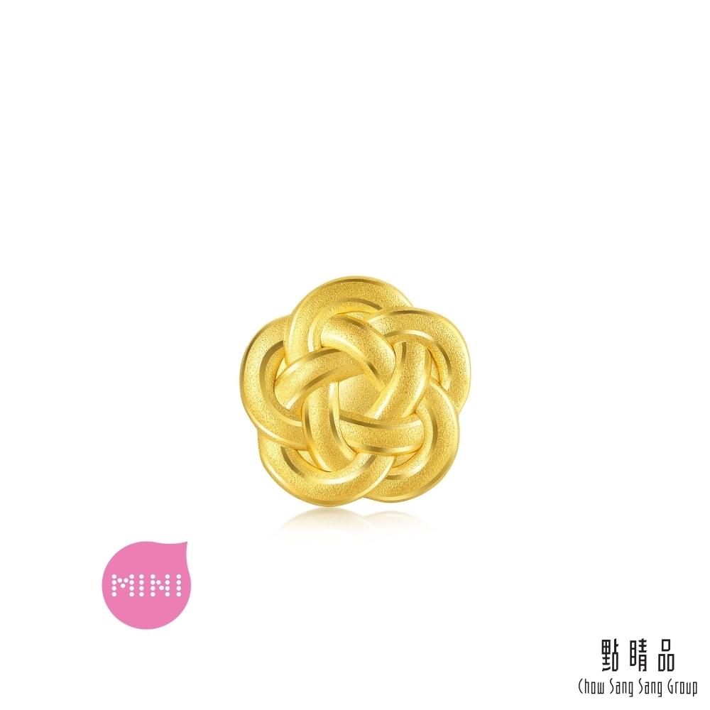 點睛品 999純金 Charme Mini 日本水引結 黃金串珠