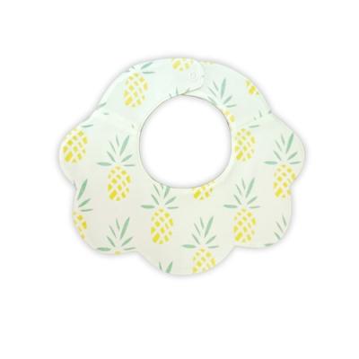 【Deux Filles有機棉】嬰兒花朵圍兜口水巾-鳳梨圖案