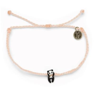 Pura Vida 美國手工 PANDA CHARM 慈善系列 熊貓腮紅粉蠟線衝浪手鍊手環